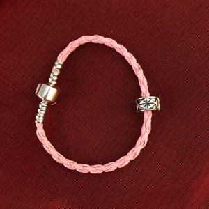 Pandora Leather Bracelet with Candy Charm
